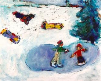 Childhood Winter Memories 24x30