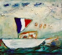 's Boat I 20x24