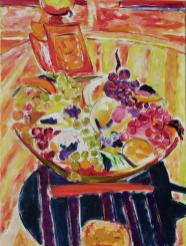 Coffee Pot with Fruit Bowl 18x24