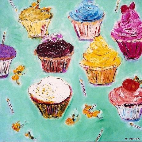 Cupcakes 18x18
