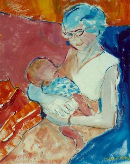 Grandmother with Child 24x30
