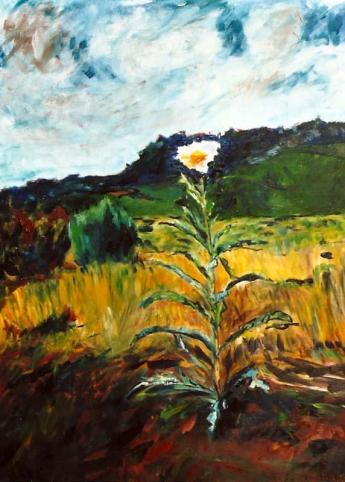 Lone Wildflower 30x40