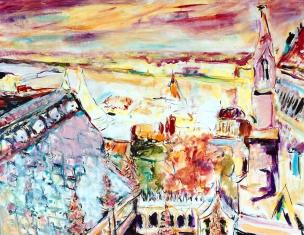 Rooftops of Budapest 24x30