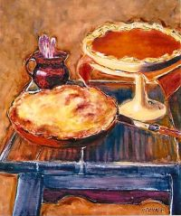 Still Life With Pies 20x24