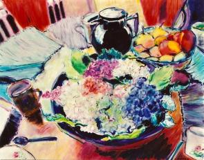 Still Life with Hydrangeas 24x30