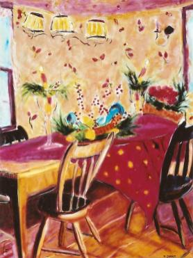 Still Life with Pear Basket 30x40