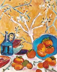 Still Life with Persimmons 24x30