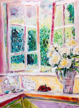 Strawberries at the Open Window 30x40