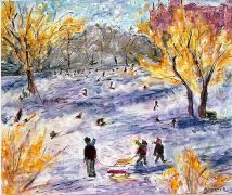 The First Snow 24x30