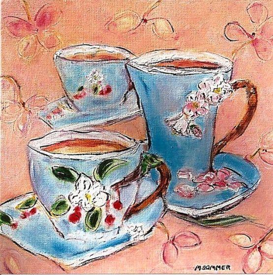 Three Cups 10x10