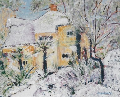 Cottage in Snow 16x20