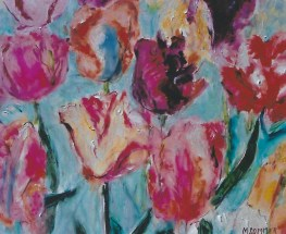 MultiColored Tulips 14x20