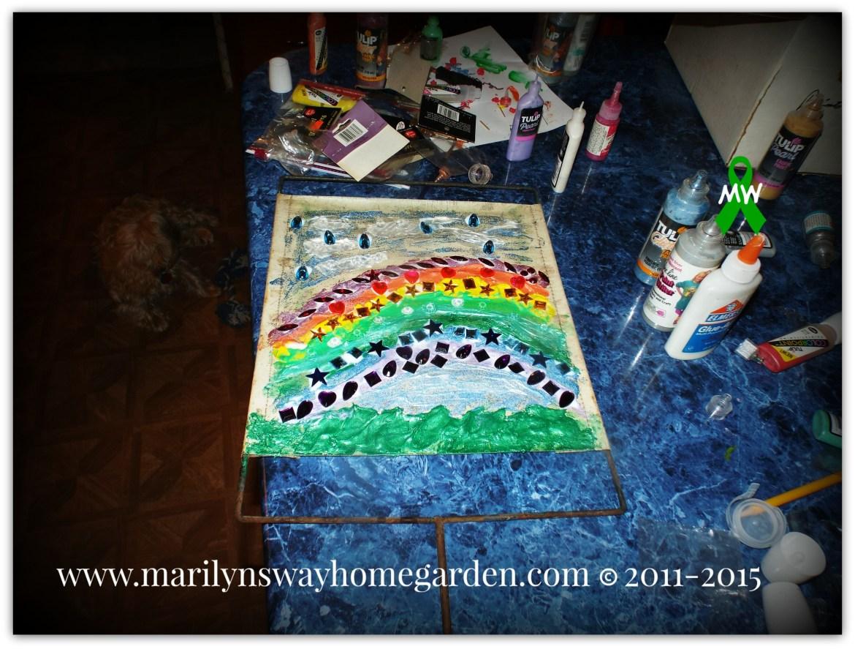Finished Rainbow Bridge Sign.