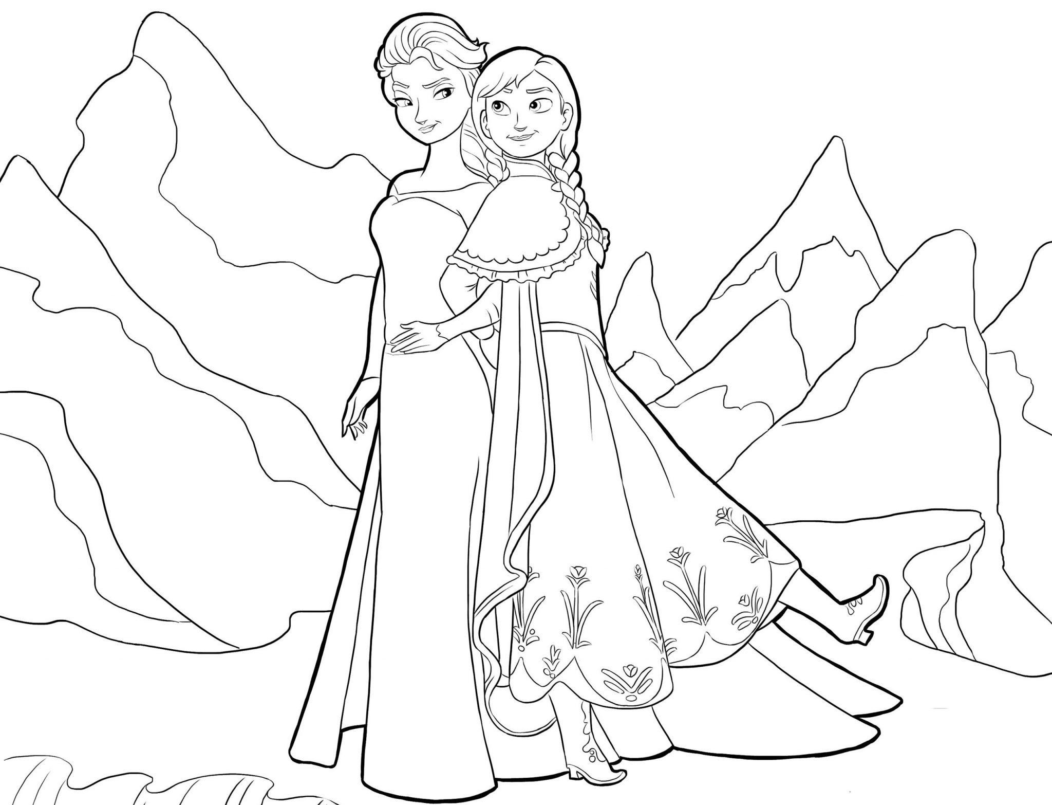 Gambar Mewarnai Elsa Frozen