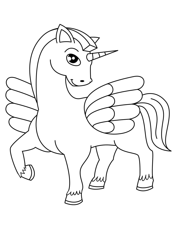 Gambar Mewarnai Unicorn Lucu : gambar, mewarnai, unicorn, Gambar, Mewarnai, Unicorn