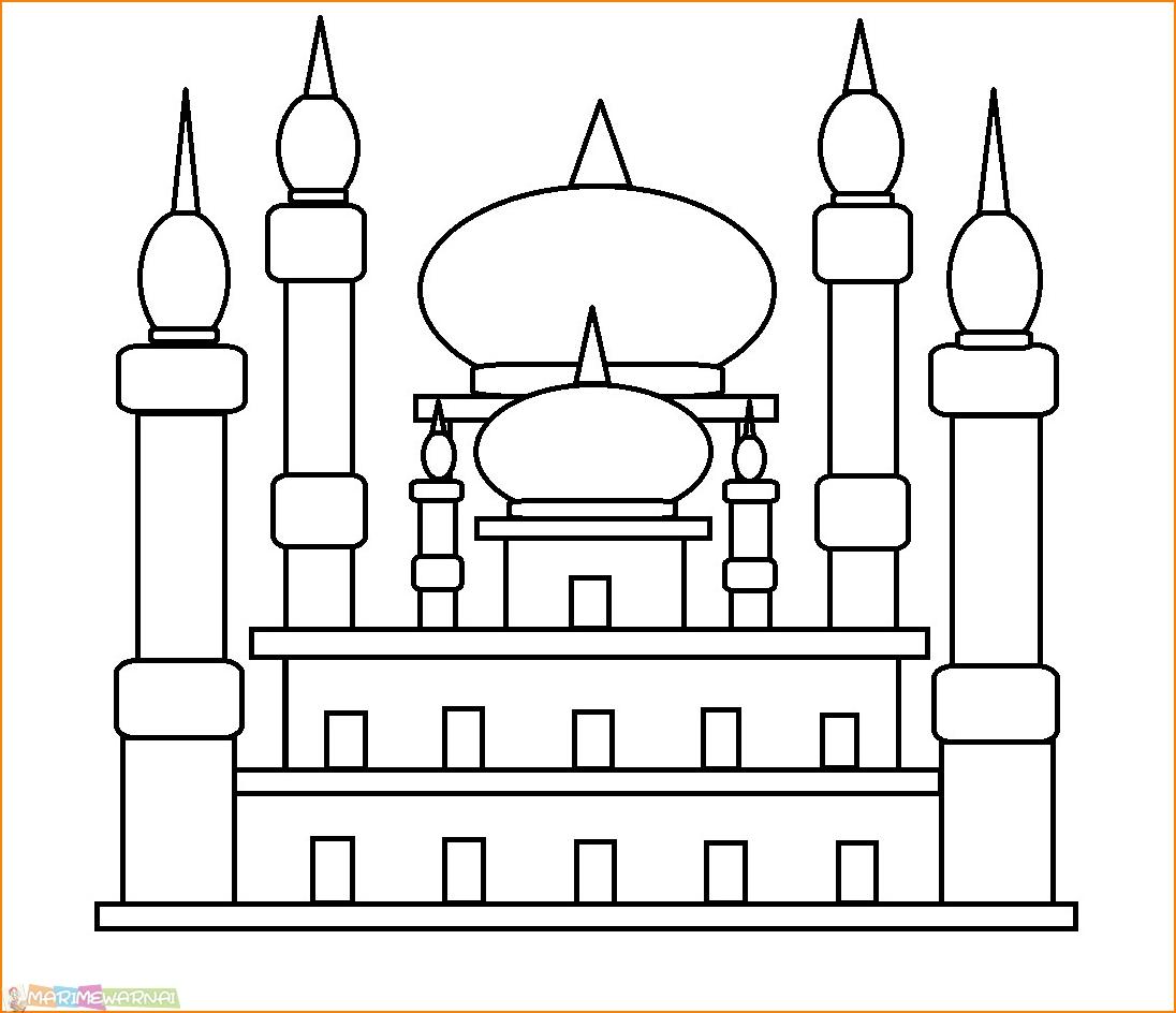 29 Gambar Mewarnai Masjid Nabawi Terlengkap 2018