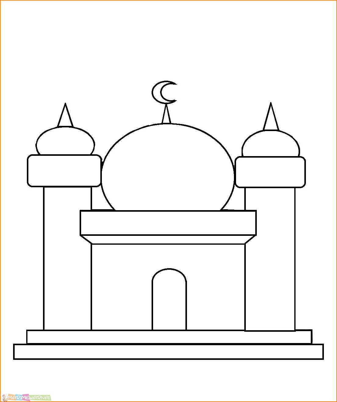 Mewarnai Gambar Masjid Untuk Anak Tk Mewarnai Cerita Terbaru Lucu Sedih Humor Kocak Romantis