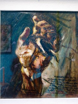 Painting by Affandi showing the fragility of life.
