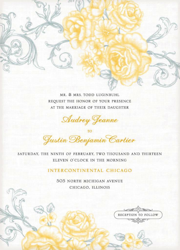 free wedding invitation templates for word  Marina