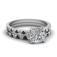 Glamour and Cheap Black Diamond Wedding Ring Sets for ...