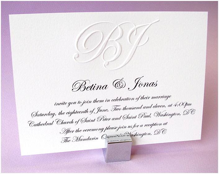 Formal Wedding Invitations Address