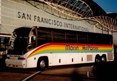 Marin Airporter, SFO Airport Transportation, Bus Service