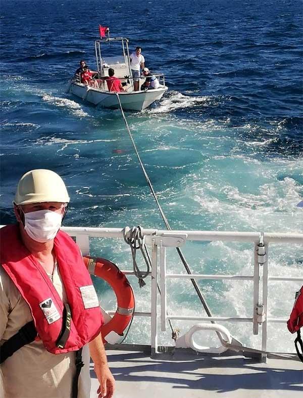 ambarli suruklenen tekne kiyi emniyeti
