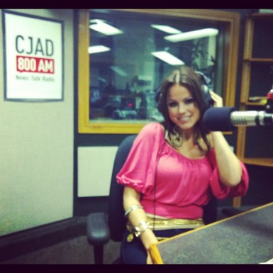 "Marina Love on Air with Zan Perrion on Dr. Laurie Betito's show ""Passions"" in summer of 2012"