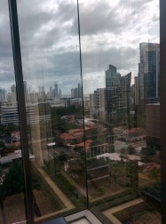 """View from our Panama City hotel -- what our cab driver referred to as """"Miami small."""""""