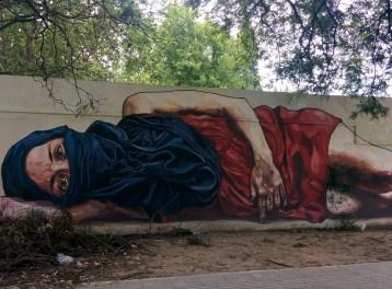 Beautiful street art in Sarmiento Park