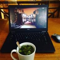 Day 1 at work: coca tea on loop!