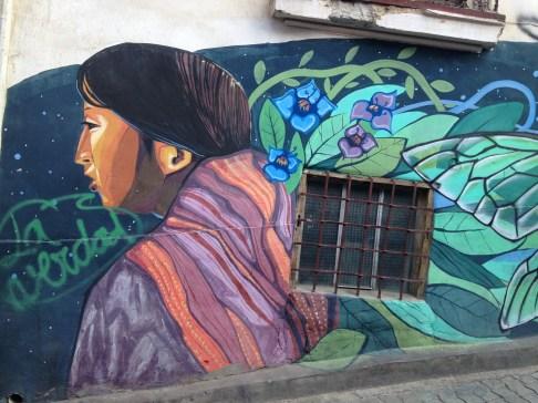 Cool street art in La Paz