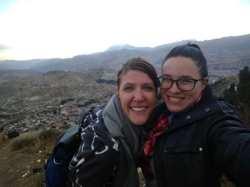Arestia and I overlooking La Paz during our architectural tour