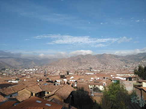 Beautiful views of Cusco from my hotel