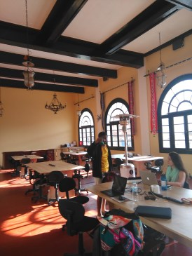 Our new workspace is in an old ballroom and gorgeous