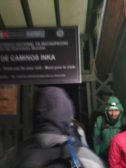 Day 4: finally going through the checkpoint for Machu Picchu!