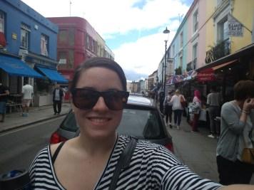 Walking around Notting Hill's Portobello Road market