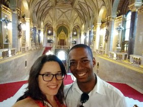 In the Budapest Parliament -- so fancy