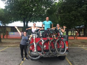 Ready for our epic bike ride