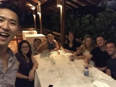 Family dinner at Tamarind Springs