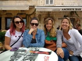 Ladies in Hvar Town (Melissa, me, Michelle, Diane)
