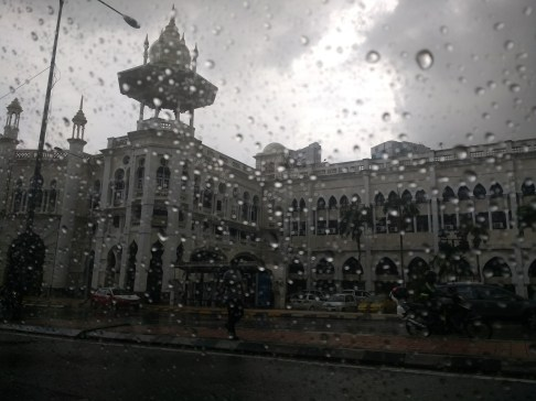 Proof that it rained all the time... and the beautiful railway building