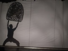 Shadow puppet performance!