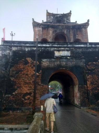 Hue citadel by (rainy) day