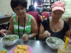Famous pho! Galya and mom