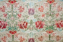 Honeysuckle embroidered by Jane Morris, designed by William Morris.