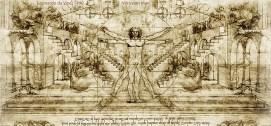 Vitruvian Man 1490, from a sketchbook by da Vinci.