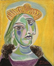 Portrait of Dora Maar, 1938, by Pablo Picasso. This was one of the paintings that inspired my muse of Dora Maar, a photographer and artist in her own right . Muse and lover of Picasso.