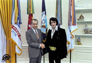Richard M. Nixon and Elvis Presley at the White House - 12/21/1970