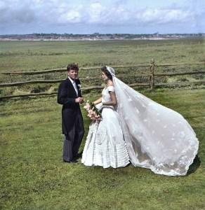 Senator John F. Kennedy and Jacqueline Bouvier Kennedy on their wedding day. September 12, 1953.